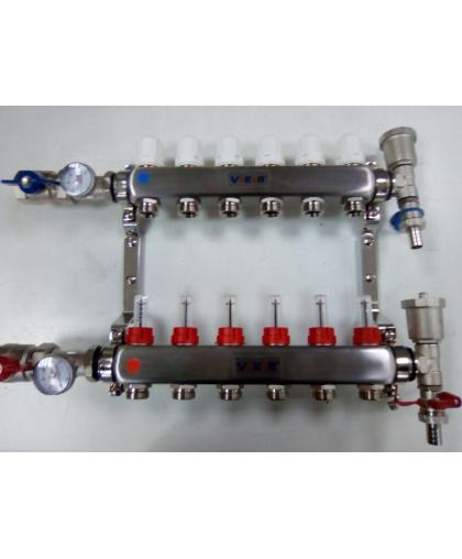 Vieir VR113 Коллекторная группа с расходомерами из нержавеющей стали