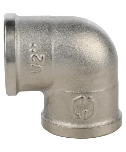 STOUT Угольник латунный 1/2 вн/вн никелированный