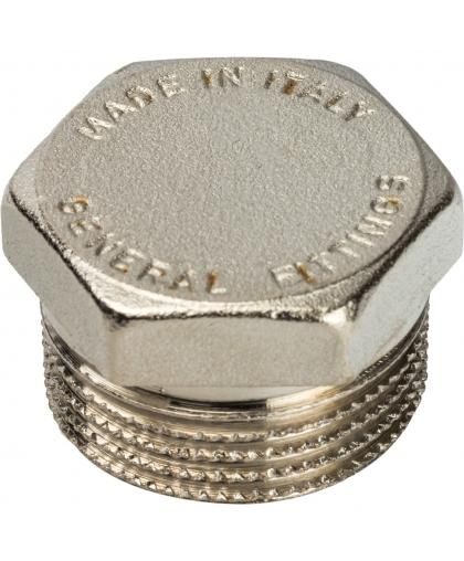 Заглушка никелированная с наружной резьбой