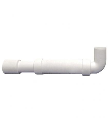 MRMF2-E:Труба гофрированная раздвижная под углом 90° (L350-600мм, D50мм); вход Дн=40мм, выход Дн=40/50мм