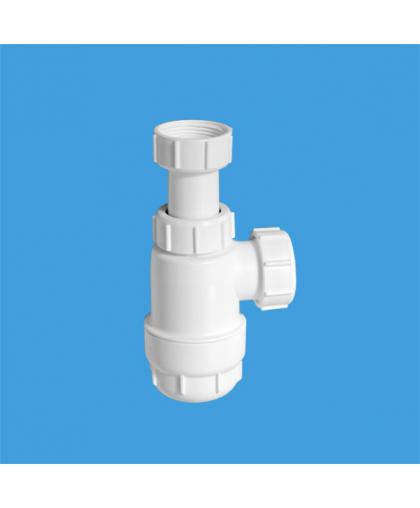 MRW2-NW Сифон бутылочный (1 1/4'x32мм) без выпуска; выход компрессионный Ду=32мм
