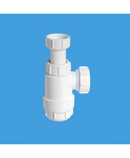 MRW240NW Сифон бутылочный (1 1/4'x32мм) без выпуска; выход компрессионный Ду=40мм