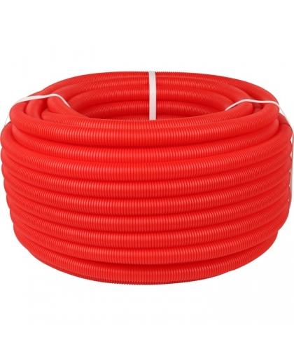STOUT Труба гофрированная ПНД, цвет красный, наружным диаметром 25 мм для труб диаме