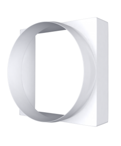 Переходники квадратных воздуховодов на круглые 100 (серия КВ)