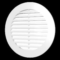Решётки вентиляционные круглые с фланцем (серия РК)